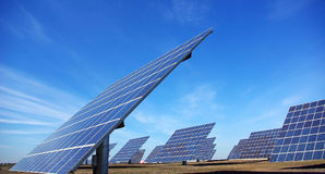 photovoltaïque central Photographie stock