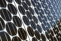 Photovoltaic Arrays. Close-up of photovoltaic (pv) cells stock photography