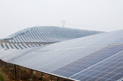 Photovoltaic cell array Stock Image