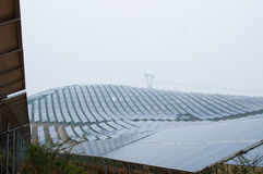 Photovoltaic cell array Stock Photos