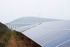 Photovoltaic cell array Stock Photo