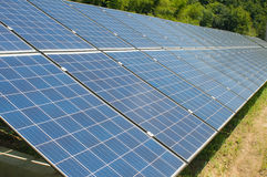 Photovoltaic cell array Royalty Free Stock Image