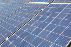 Photovoltaic cell array Royalty Free Stock Photography