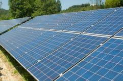 Photovoltaic cell array Royalty Free Stock Photos