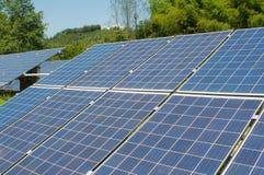 Photovoltaic cell array Stock Photos
