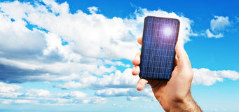 Photovoltaic cell exposed to the sun Royalty Free Stock Photography