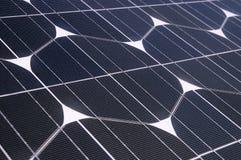 Photovoltaic cellen in een zonnepaneel Royalty-vrije Stock Foto's
