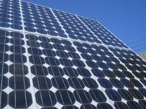 Photovoltaic cellenzonnepaneel Stock Foto's