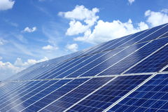 Photovoltaic cells and blue sky Stock Photography
