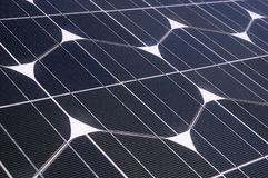 Photovoltaic cells in a solar panel. Perspective view royalty free stock photos