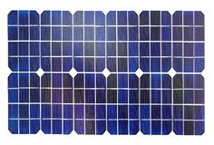 Photovoltaic cells of a solar panel Royalty Free Stock Images