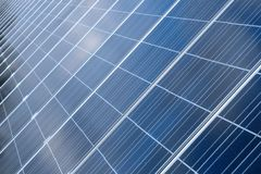 Photovoltaic cells in a solar panel royalty free stock images