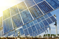 Photovoltaic Cells or Solar Panels Royalty Free Stock Photography