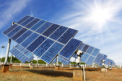 Photovoltaic Cells or Solar Panels Stock Photo