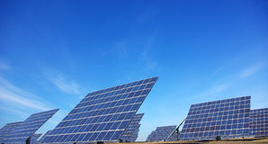 Photovoltaic central. Royalty Free Stock Photography
