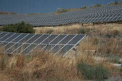 Photovoltaic Comités royalty-vrije stock foto's