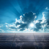 Photovoltaic ecological modules Stock Photo