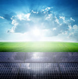 Photovoltaic ecological modules Stock Images