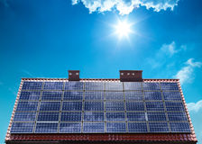 Photovoltaic ecological modules Stock Photos