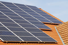 Photovoltaic Roof Stock Images