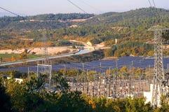 Photovoltaic elektrische centrale stock foto's