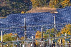 Photovoltaic elektrische centrale royalty-vrije stock afbeelding