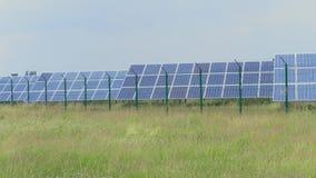 Photovoltaic elektrownia, kom?rka panel przeciw trawy polu zbiory
