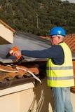 Photovoltaic engineer Stock Photo