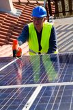 Photovoltaic engineer Royalty Free Stock Photography
