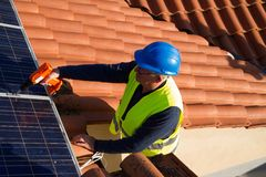 Photovoltaic engineer Royalty Free Stock Images