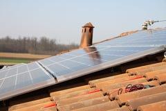 Photovoltaic gebied van de installatie Royalty-vrije Stock Afbeeldingen