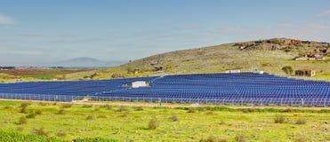 photovoltaic industriell installation Arkivfoto