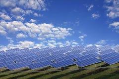 photovoltaic installation Royaltyfria Bilder