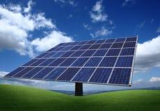 photovoltaic installationspanel Arkivbilder