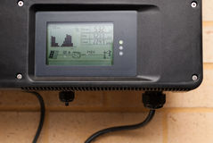 Photovoltaic inverter installed in a home Royalty Free Stock Photo