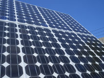 Photovoltaic komórek panel słoneczny Zdjęcia Stock