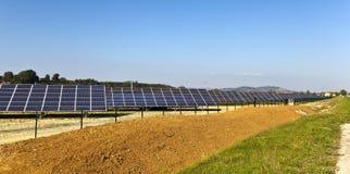 Photovoltaic krachtcentrale van Frankrijk royalty-vrije stock foto's