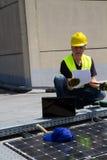Photovoltaic laborer Royalty Free Stock Photos