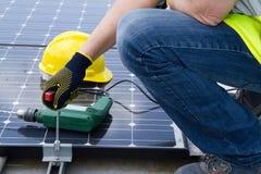 Photovoltaic laborer Royalty Free Stock Photo