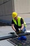 Photovoltaic laborer Stock Photos
