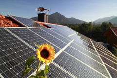 Photovoltaic macht Stock Fotografie