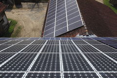 Photovoltaic modules Royalty Free Stock Image