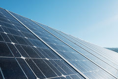 Photovoltaic panel against sky Royalty Free Stock Images