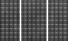 Photovoltaic Panel. Detail of a photovoltaic panel for an ecological background Stock Images