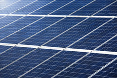 Photovoltaic panel for power generation texture or pattern Royalty Free Stock Photography