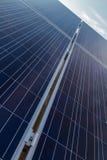 Photovoltaic panel słoneczny przekątny perspektywa Zdjęcie Stock