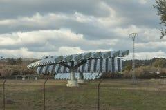 Photovoltaic panel słoneczny w słonecznym sadzie obrazy royalty free