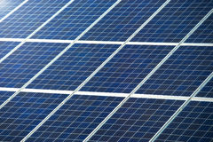 Photovoltaic panel for solar power generation texture or pattern Royalty Free Stock Images