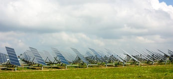 Photovoltaic panelen Royalty-vrije Stock Afbeeldingen