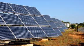 Photovoltaic panelen Royalty-vrije Stock Fotografie